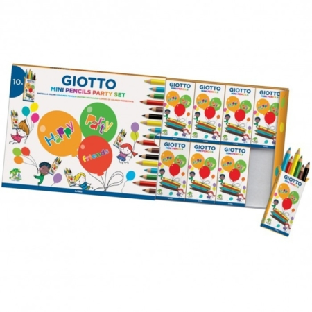 SET DE 10 CAJAS DE 6 LÁPICES DE COLORES GIOTTO PARTY