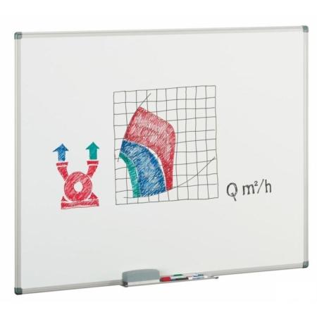 Pizarra estratificada blanca con marco de aluminio de 122 x 200 cm Faibo
