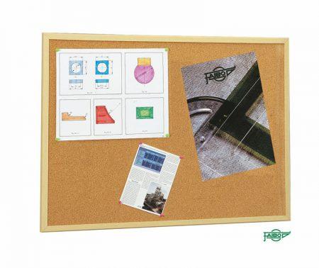 Tablero de corcho económico con marco de madera de pino de 60 x 90 cm Faibo