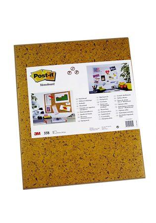 Tablero adhesivo Post-It® 558 marrón imitación corcho de 58,5 x 46 cm