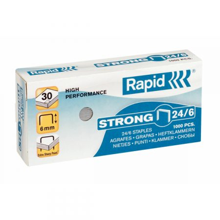 Caja de grapas galvanizadas Rapid 24/6 strong