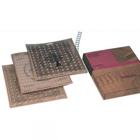 Caja 100 encuadernadores Doble Cero Wire paso 3:1 6,9 mm blanco Grafoplas