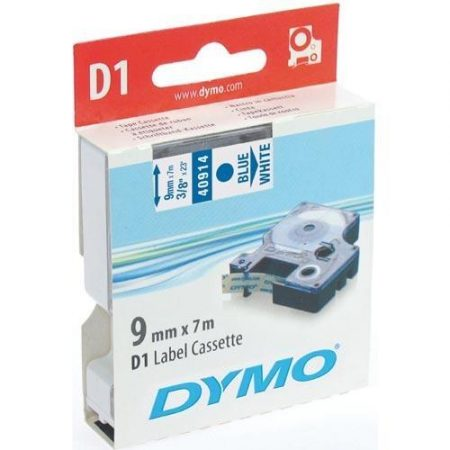 Cinta Dymo 40914  9 MM x 7 Mts Az/Blanco