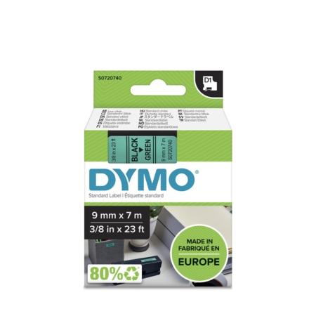 Cinta Dymo 40919  9 MM x 7 Mts  Neg/Verde