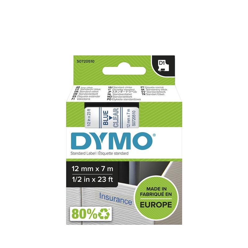Cinta Dymo 45011  12 MM x 7 Mts  Az/Trasnp