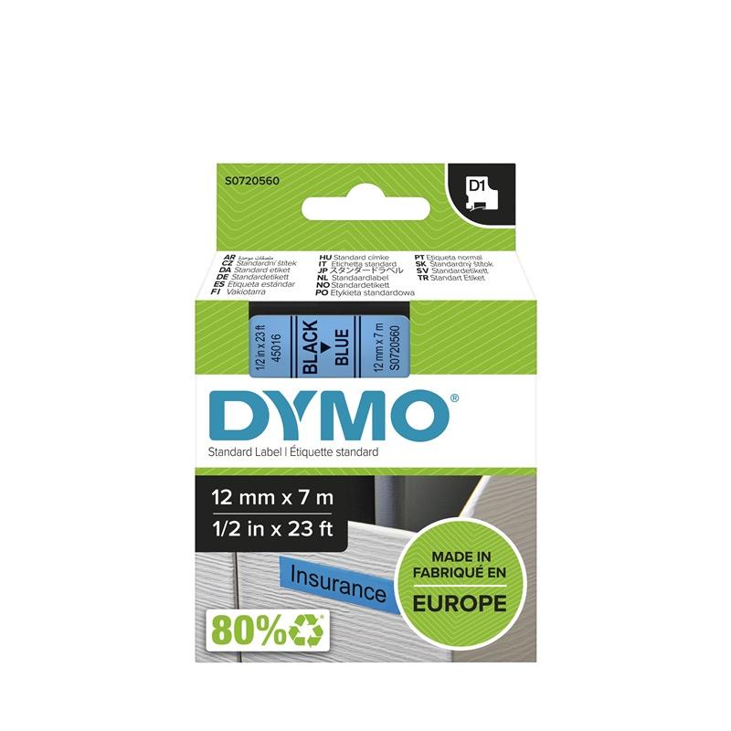 Cinta Dymo 45016  12 MM X 7 Mts  Neg/Azul