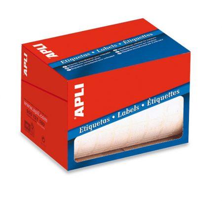 Rollo de etiquetas blancas con cantos redondos Apli 34 x 67 mm