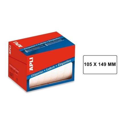 ROLLO DE ETIQUETAS ADHESIVAS BLANCAS PERMANENTES APLI 105 X 149 MM 1706