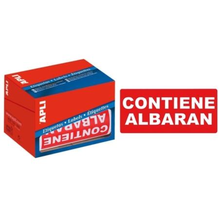 """ROLLO DE 200 ETIQUETAS ADHESIVAS DE ENVÍO """"CONTIENE ALBARÁN"""" APLI 50 X 100 MM"""