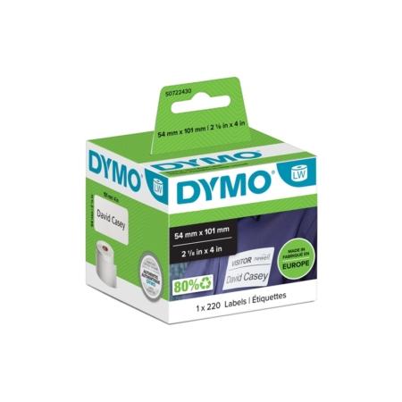 Rollo de etiquetas Dymo para tarjetas de identificación y envíos 54 x 101 mm