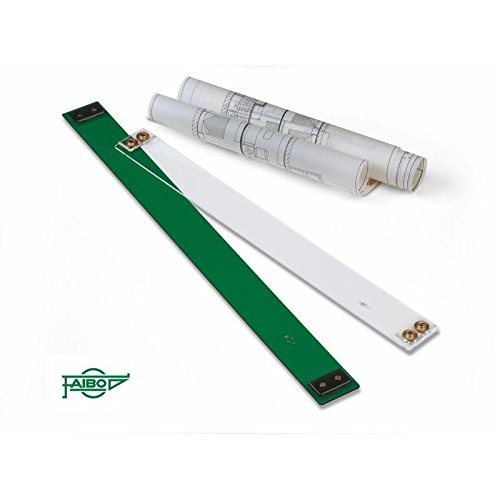 Paralex de plástico verde transparente sin ilustración de 90 cm Faber Castell