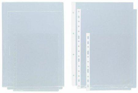Caja de 50 fundas de PVC cristal multitaladro A4 con lomo reforzado Grafoplas