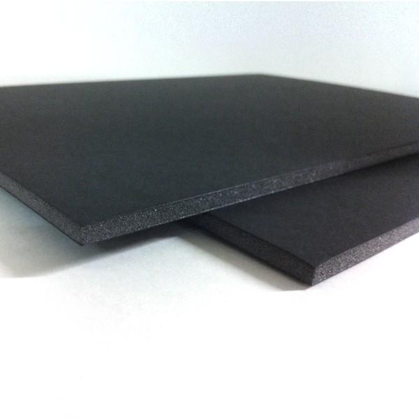 Plancha de cartón pluma negro y gris de 70 x 100 cm con grosor de 5 mm