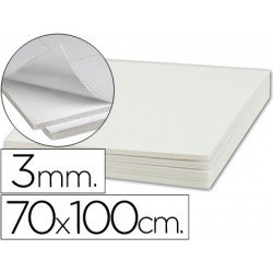Plancha de cartón pluma blanco de 70 x 100 cm con grosor de 3 mm