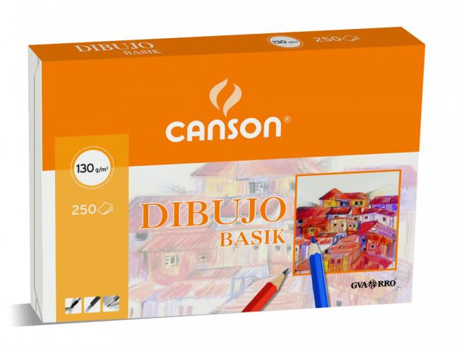 Paquete de 250 láminas de dibujo sin recuadro A3 de 130 grs/m² Canson