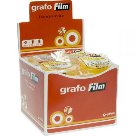 Cinta adhesiva GrafoFilm 33 mm x 19 m transparente
