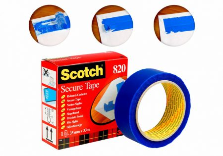 Cinta adhesiva de seguridad Scotch 35 mm x 33m azul