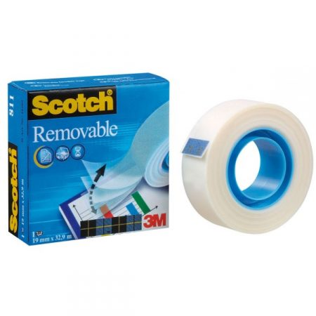 Cinta adhesiva invisible de quita y pon Scotch Magic 19mm x 33m