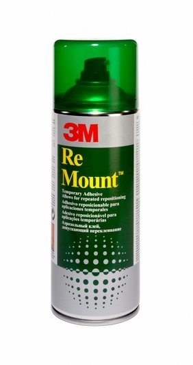 Pegamento en spray 3M ReMount 400 ml.