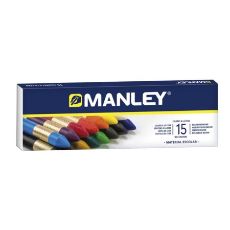 Estuche de 15 Ceras Manley