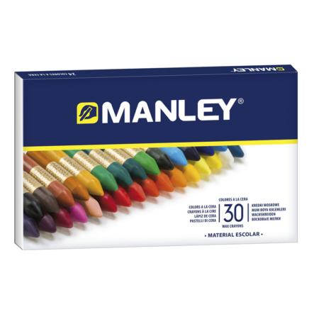 Estuche Ceras Manley de 30 colores surtidos
