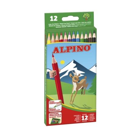 Estuche Alpino cartón 12 lápices de colores largo