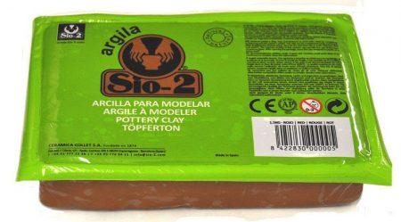 Arcilla sio-2 argila 1,5 kg rojo