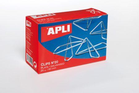 Caja de 25 clips mariposa Apli 65 MM Nº20