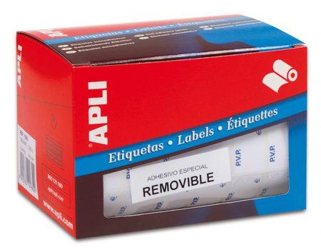 """Rollo de etiquetas """"P.V.P."""" Apli 12 x 18 mm"""