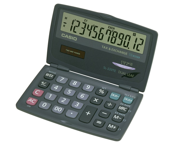 CALCULADORA CASIO SL-220 TE 12 DIGITOS