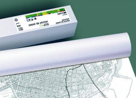 Papel plotter opaco monocromo 610*50mt 80 grs.