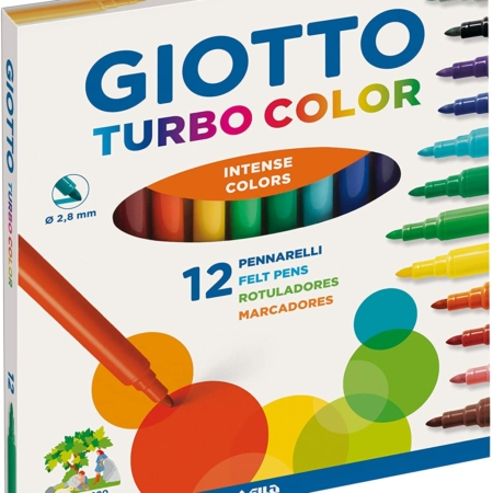 Caja de 12 rotuladores Giotto Turbo Color surtidos