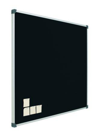 Tablero de corcho tapizado en negro con marco de aluminio de 100 x 120 cm Planning Sisplamo