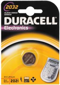 Blíster de 1 pila alcalina de botón CR2032 de 3V Duracell