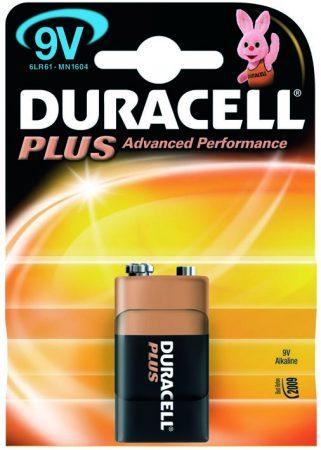 Blíster de 1 pila alcalina LR61 de 9V Duracell Plus Power