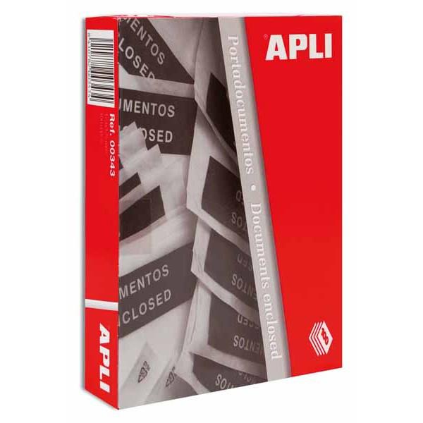 APLI 1468-Sobres porta documentos 240 x 180 mm 100 u.
