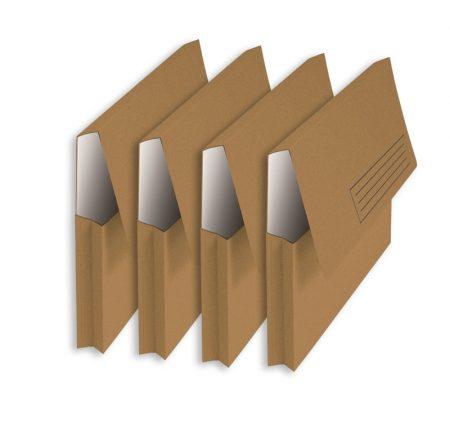 Pack de 25 subcarpetas con bolsa y solapa Fº kraft bicolor