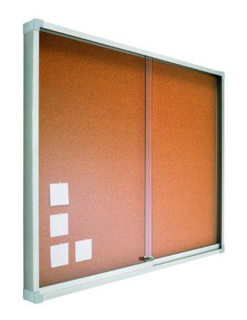 Vitrina de corcho con puertas correderas de 80 x 100 cm Planning Sisplamo