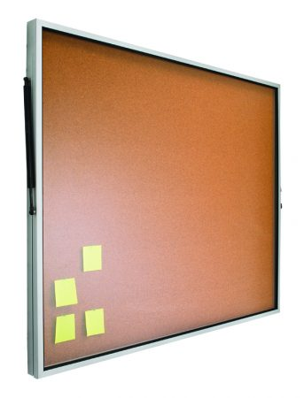 Vitrina de corcho con puerta telescópica de 100 x 120 cm Planning Sisplamo