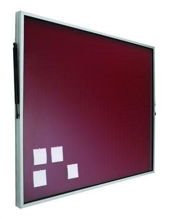 Vitrina de corcho tapizado en negro con puerta telescópica de 100 x 120 cm Planning Sisplamo