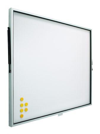 Vitrina de pizarra blanca con puerta telescópica de 80 x 100 cm Planning Sisplamo