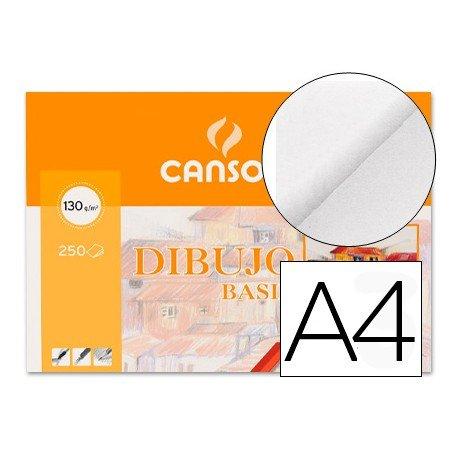 Paquete de 250 láminas de dibujo sin recuadro A4 de 130 grs/m² Canson