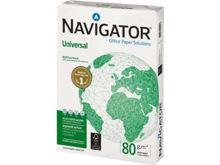 Paquete de 250 hojas de papel fotocopia Din A4 navigator  de 120 grs
