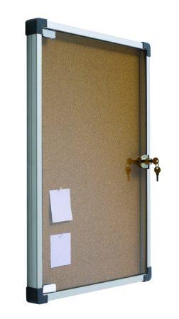 Vitrina de corcho con puerta abatible de 70 x 50 cm Planning Sisplamo