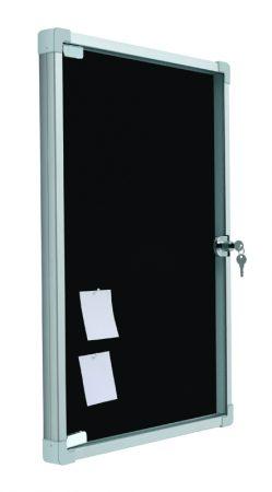 Vitrina de corcho tapizado en azul con puerta abatible de 38 x 50 cm Planning Sisplamo