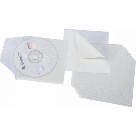 PACK DE 10 FUNDAS AUTOADHESIVAS PARA CD GRAFOPLAS