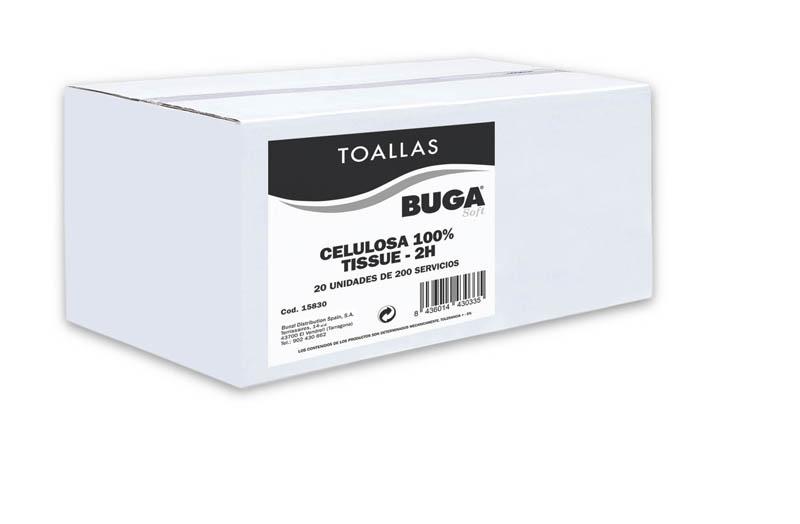 TOALLA ZIG-ZAG TISSUE CELULOSA 20x30 CM