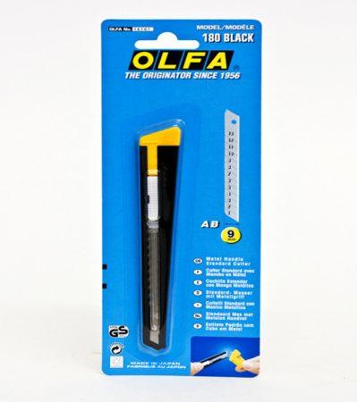 Cutter metálico con hoja de 9 mm Olfa 180