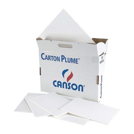 Plancha de cartón pluma blanco A3 con grosor de 5 mm