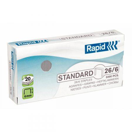 Grapas estándares Rapid 26/6